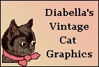 Mini Banner: Diabella's Vintage Cat Graphics