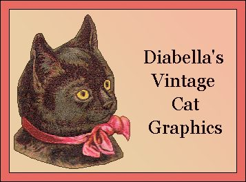 Diabella's Vintage Cat Graphics banner