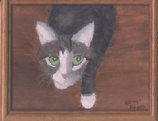 Dad's oil painting from photo of Katzenberg